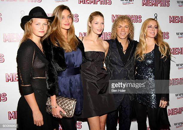 Musician David Bryan fiancee Lexi Quaas and models attend the opening night of Memphis on Broadway at the Shubert Theatre on October 19 2009 in New...