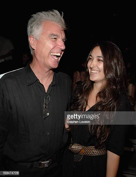 Musician David Byrne and daughter Malu Byrne at the Narciso Rodriguez Spring 2008 MercedesBenz Fashion Show in New York City on September 9th 2007