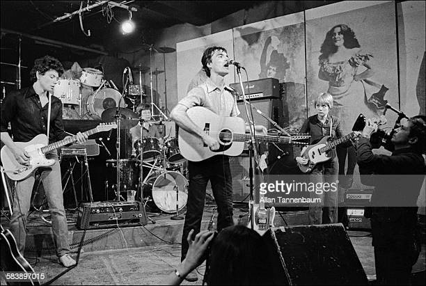 Musician David Byrne and the band Talking Heads perform at Hilly's on The Bowery New York New York March 31 1977