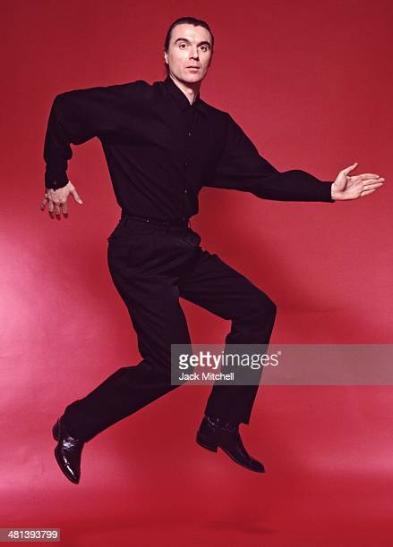 Musician David Byrne founding member and principal songwriter of the American New Wave band Talking Heads photographed in 1987