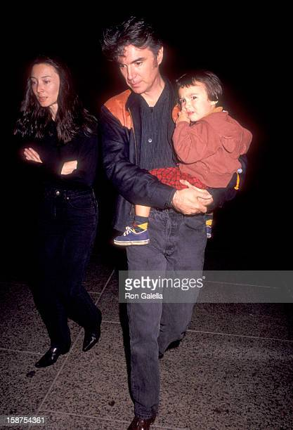 Musician David Byrne of Talking Heads wife Adelle Lutz and daughter Malu Byrne attend The Big Apple Circus Presents Greetings from Coney Island on...