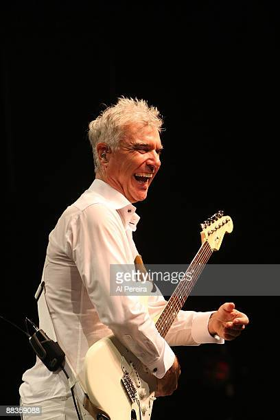 Musician David Byrne performs during the opening night of the 31st Celebrate Brooklyn Summer Season at the Prospect Park Bandshell on June 8 2009 in...