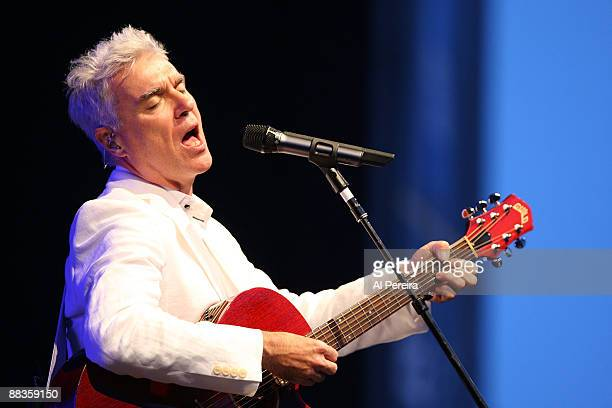 Musician David Byrne performs on opening night of the 31st Celebrate Brooklyn Summer Season at the Prospect Park Bandshell on June 8 2009 in New York...