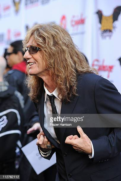 Musician David Coverdale arrives at the 3rd Annual Revolver Golden God Awards at the Club Nokia on April 20 2011 in Los Angeles California