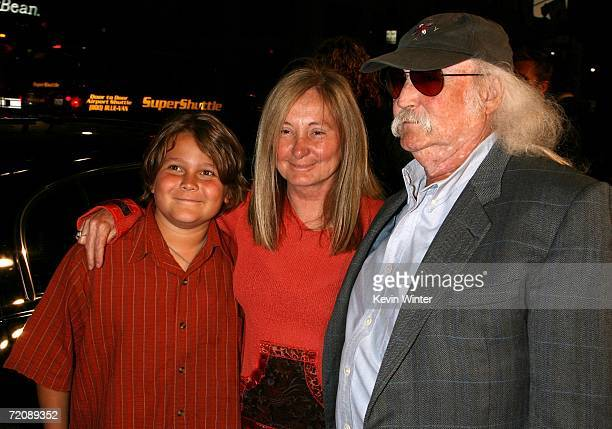 Musician David Crosby and family arrive at the premiere of Universal Pictures Man of the Year at Grauman's Chinese Theatre October 4 2006 in...