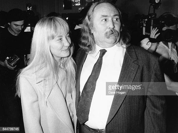 Musician David Crosby and his wife at a Rock and Roll Hall of Fame ceremony to honor Mick Jagger and Tina Turner in New York January 24th 1989