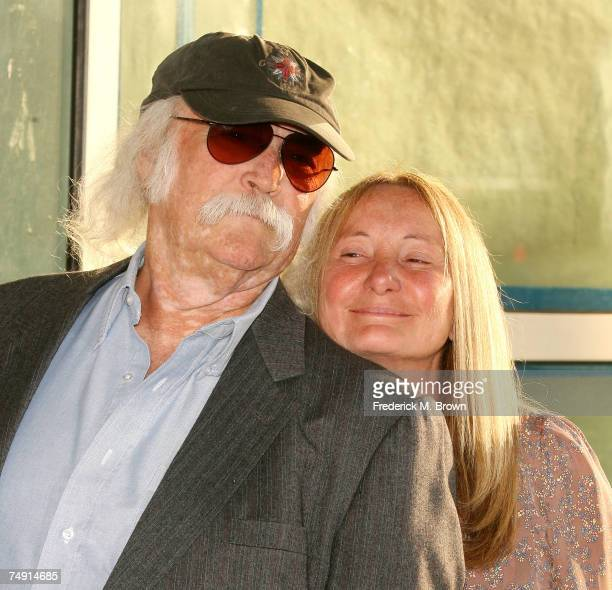 Musician David Crosby and his wife Jan Dance attend the License to Wed film premiere at the Pacific Cinerama Dome on June 25 2007 in Hollywood...