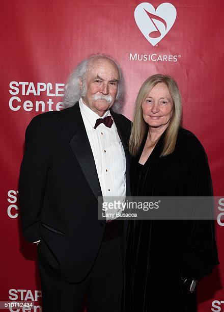 Musician David Crosby and Jan Dance attend the 2016 MusiCares Person of the Year honoring Lionel Richie at the Los Angeles Convention Center on...