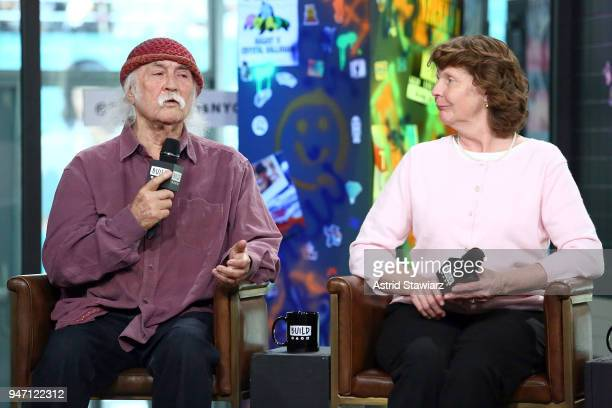 Musician David Crosby and Susette Kelo discuss the film 'Little Pink House' at Build Studio on April 16 2018 in New York City