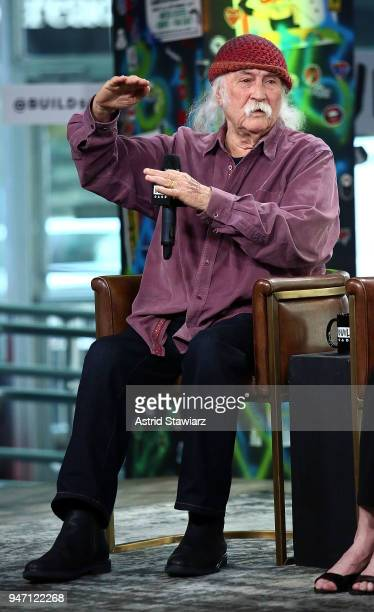Musician David Crosby discusses the film 'Little Pink House' at Build Studio on April 16 2018 in New York City