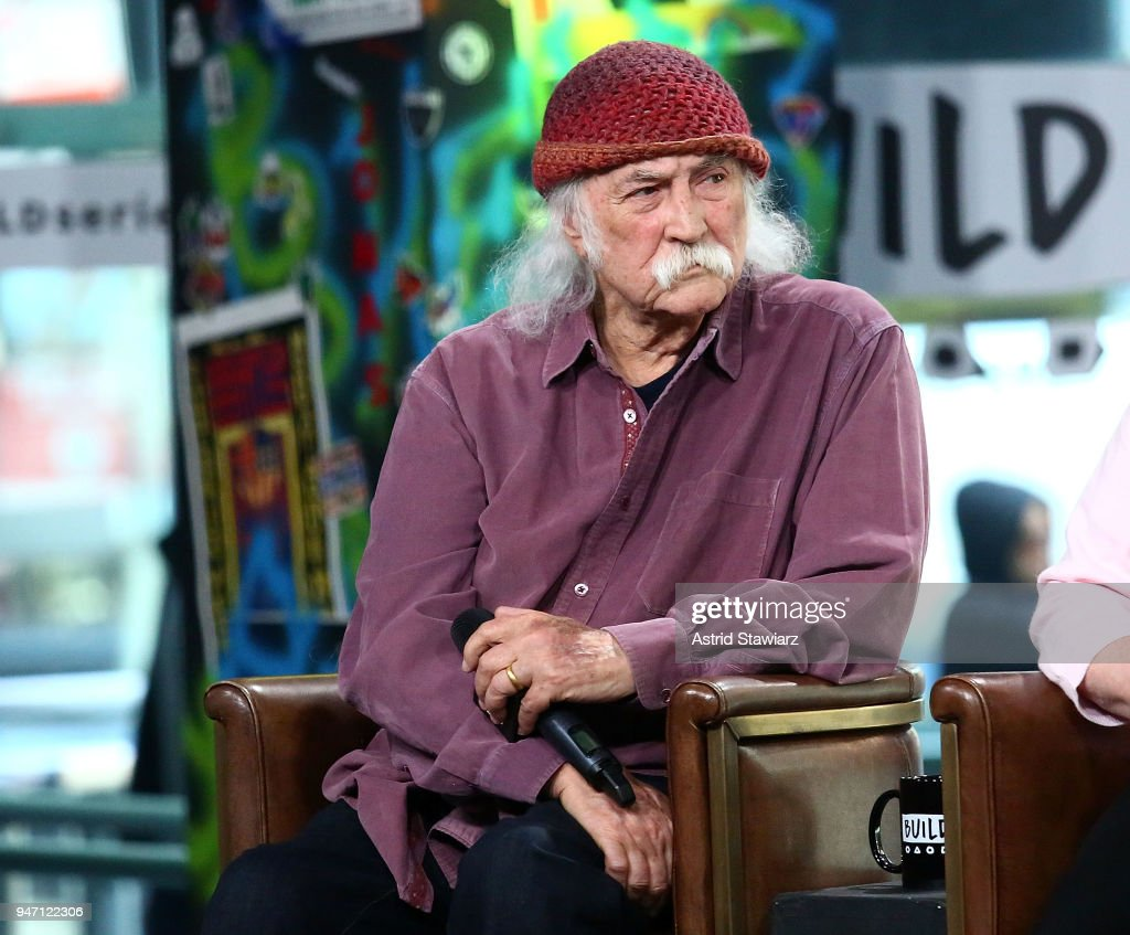 Musician David Crosby discusses the film 'Little Pink House' at Build Studio on April 16, 2018 in New York City.