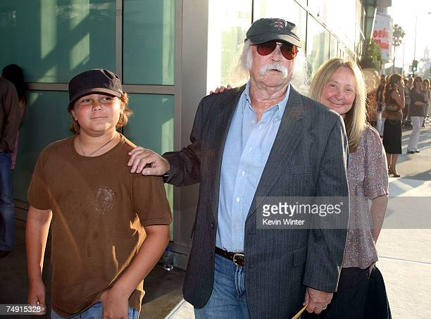 Musician David Crosby his wife Jan and their son Django arrive at the premiere of Warner Bros Pictures' License to Wed at the Cinerama Dome Theater...