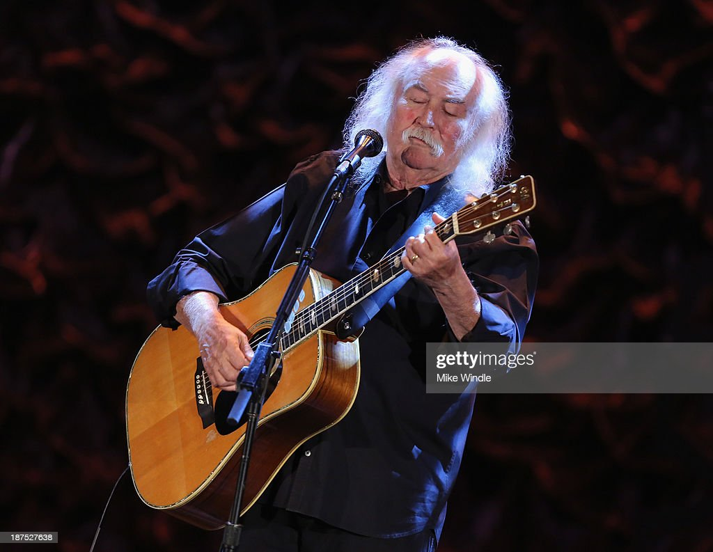 Musician David Crosby performs onstage during the International Myeloma Foundation's 7th Annual Comedy Celebration Benefiting The Peter Boyle Research Fund hosted by Ray Romano at The Wilshire Ebell Theatre on November 9, 2013 in Los Angeles, California.