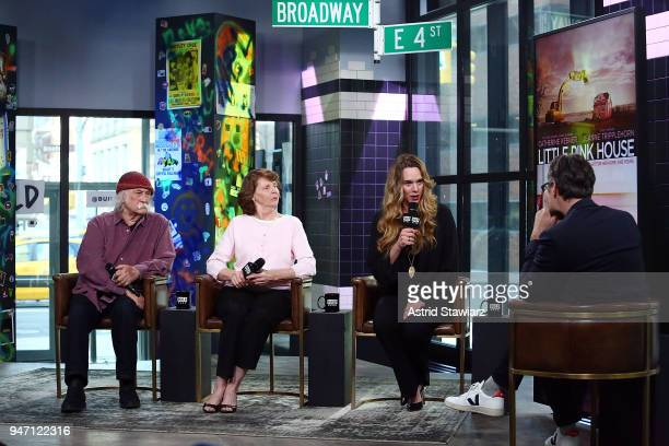 Musician David Crosby Susette Kelo and director Courtney Balaker discuss the film 'Little Pink House' at Build Studio on April 16 2018 in New York...