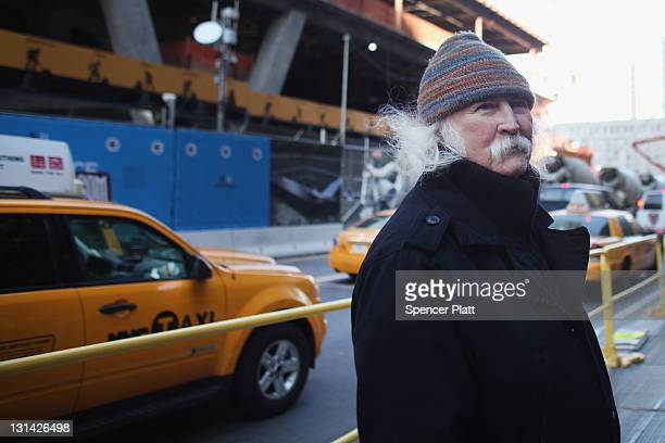 Musician David Crosby visits the 'Occupy Wall Street' at Zuccotti Park in the Financial District near Wall Street on November 4 2011 in New York City...