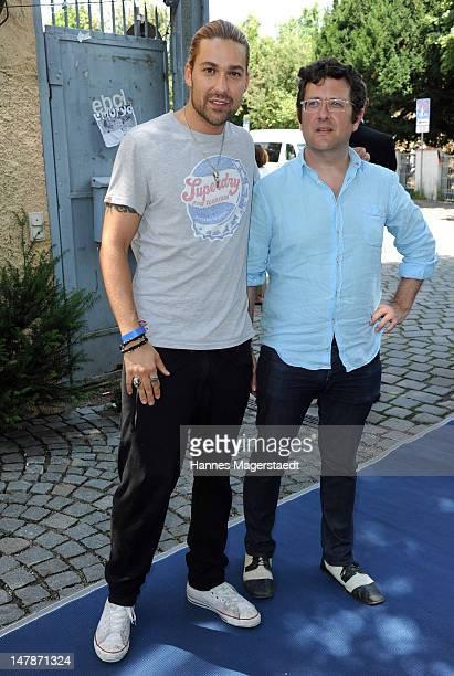 Musician David Garrett and Bernard Rose attend the FFF Reception during the Munich Film Festival 2012 at the Praterinsel on July 5 2012 in Munich...