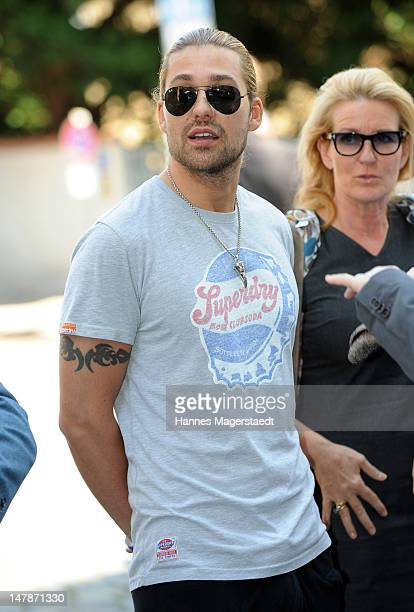 Musician David Garrett attends the FFF Reception during the Munich Film Festival 2012 at the Praterinsel on July 5 2012 in Munich Germany