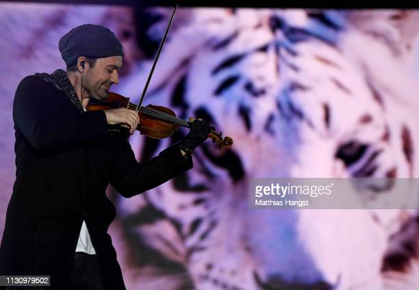 Musician David Garrett is seen on stage during the opening ceremony for the FIS Nordic World Ski Championships on February 20 2019 in Seefeld Austria