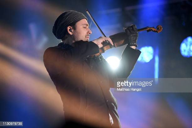 Musician David Garrett is seen on stage during the opening ceremony for the FIS Nordic World Ski Championships on February 20, 2019 in Seefeld,...