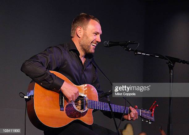 Musician David Gray performs at the Apple Store Soho on August 16 2010 in New York City