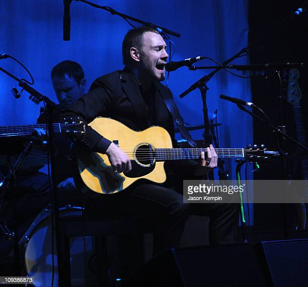 Musician David Gray performs at The Beacon Theatre on February 23 2011 in New York City