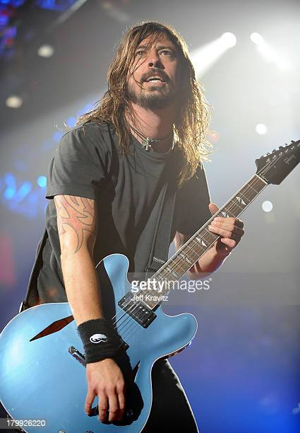Musician David Grohl performs onstage with the Foo Fighters at the 2008 VH1 Rock Honors honoring The Who at UCLA's Pauley Pavilion on July 12 2008 in...