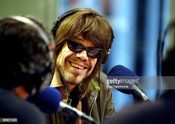 Musician David Johansen is interviewed by Vincent Big Pussy Pastore during The Wiseguy Show at Sirius Radio's Manhattan studios May 26 2004 in New...