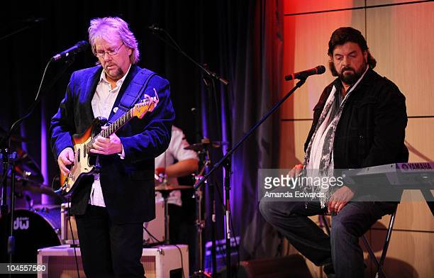 Musician David Pack of Ambrosia and Alan Parsons perform onstage during An Evening With Alan Parsons at the GRAMMY Museum on September 29 2010 in Los...