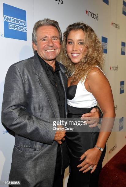 Musician Davy Jones and wife Jessica Pacheco arrive at the Macy's Passport gala held at Barker Hangar on September 24 2009 in Santa Monica California