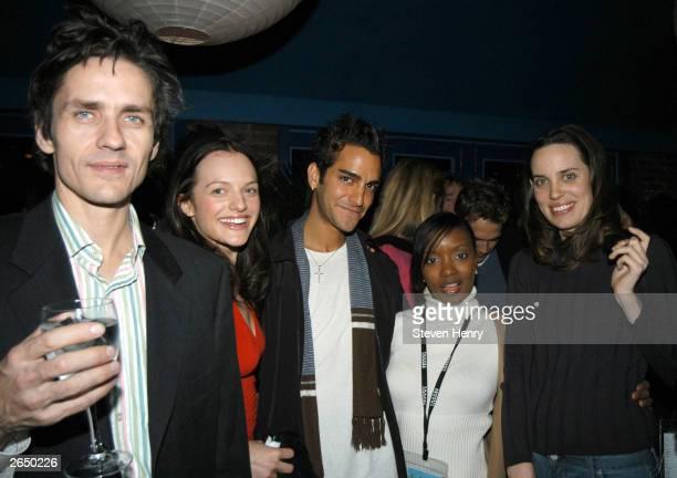 Musician Dean Wareham actress Elisabeth Moss rapper GQ actress Mylika Davis and actress Savannah Haske attend the HBO Rising Stars after party at...