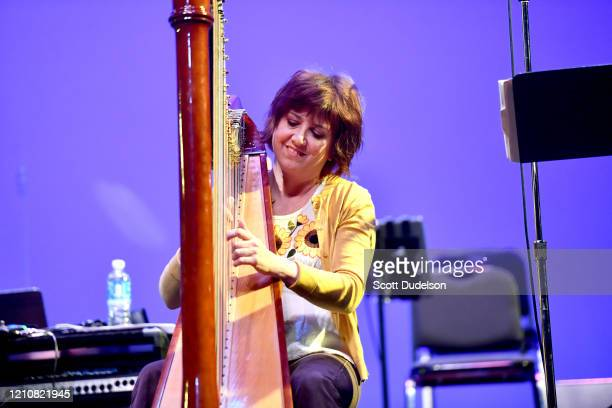 Musician Debbie Shair performs onstage during the Wild Honey Foundation's benefit for Autism Think Tank at Alex Theatre on February 29 2020 in...