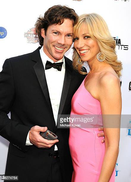 Musician Deborah Gibson with Dr Rutledge Taylor arriving at An Evening of Electric Youth Arts Education Benefit at La Boheme on April 28 2009 in West...