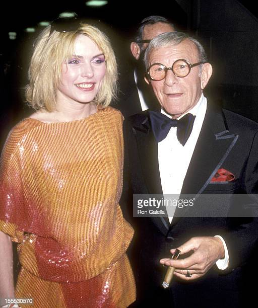 Musician Deborah Harry of Blondie and Comedian George Burns attend the 22nd Annual Grammy Awards on February 27 1980 at Shrine Auditorium in Los...