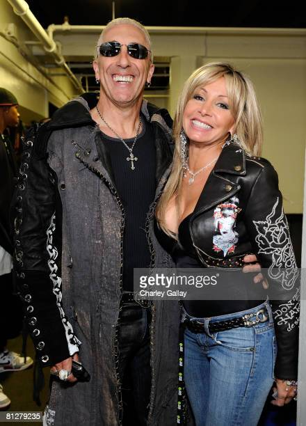 Musician Dee Snider and his wife Suzette pose during the Planet Green premiere event and concert for the television series Battleground Earth...
