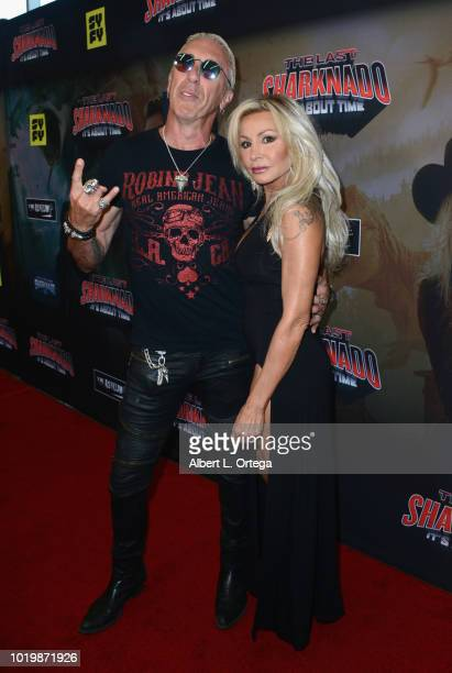 Musician Dee Snider and wife Suzette Snider arrive for the Premiere Of The Asylum And Syfy's 'The Last Sharknado It's About Time' held at Cinemark...