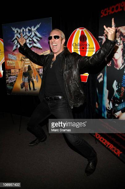 Musician Dee Snider of Twisted Sister raise awareness for the Children's Miracle Network at Gotham Comedy Club on November 18 2010 in New York City