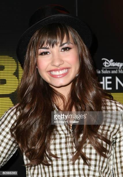 Musician Demi Lovato attends her Disney Upfront presentation on April 8 2008 in New York City