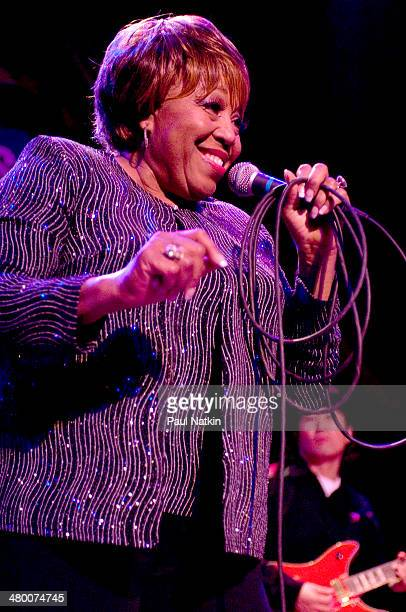 Musician Denise LaSalle performs onstage during the Koko Taylor Benefit held at the House of Blues Chicago Illinois November 19 2006