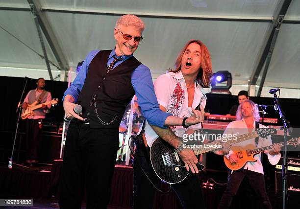 Musician Dennis DeYoung formerly of the band Styx and his band performs at the Best Buddies Challenge Hyannis Port Finish Line and Victory...