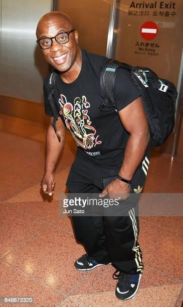 Musician Derrick McKenzie is seen upon arrival at Haneda International Airport on September 14 2017 in Tokyo Japan