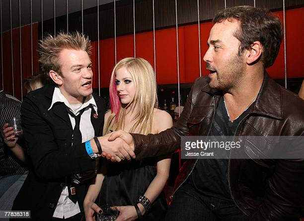 Musician Deryck Whibley recording artist Avril Lavigne and actor Jeremy Pivenat an evening at Jet Nightclub hosted by Heidi Montag and Spencer Pratt...
