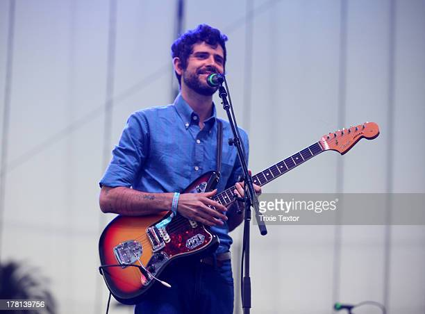 Musician Devendra Banhart performs onstage at the Charlotte Stage during Day 1 of FYF Fest 2013 at Los Angeles State Historic Park on August 24 2013...