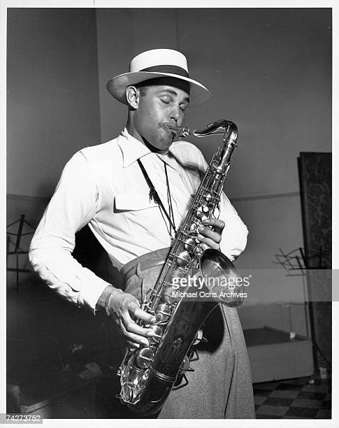 Musician Dexter Gordon recording at Capitol Records on June 5 1947 in Los Angeles California