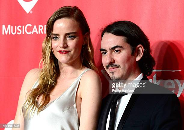 Musician Dhani Harrison and Sola Harrison attend the 25th anniversary MusiCares 2015 Person Of The Year Gala honoring Bob Dylan at the Los Angeles...