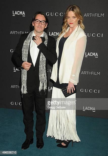 Musician Dhani Harrison and wife Solveig 'Sola' Karadottir arrive at the LACMA 2015 Art+Film Gala Honoring James Turrell And Alejandro G Inarritu,...