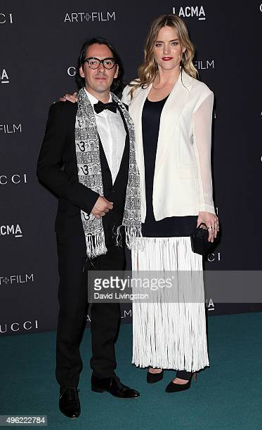 Musician Dhani Harrison and wife Solveig 'Sola' Karadottir attend the LACMA Art + Film Gala honoring Alejandro G. Iñárritu and James Turrell and...