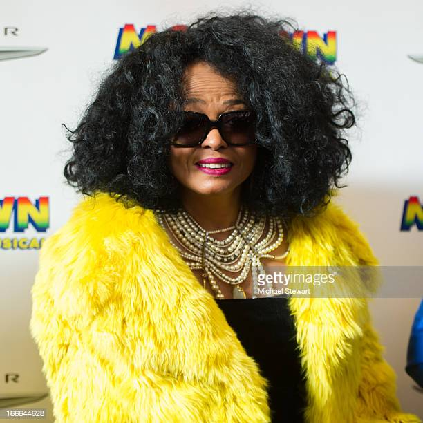 Musician Diana Ross attends the Broadway opening night for Motown The Musical at LuntFontanne Theatre on April 14 2013 in New York City