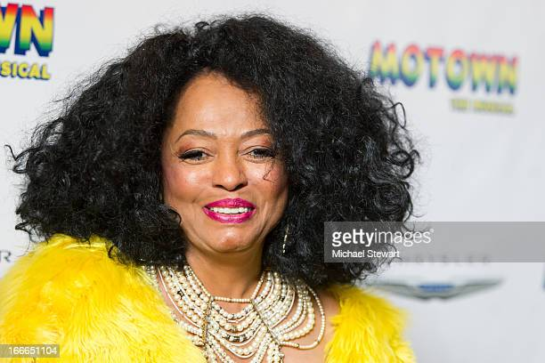 "Musician Diana Ross attends the Broadway opening night for ""Motown: The Musical"" at Lunt-Fontanne Theatre on April 14, 2013 in New York City."