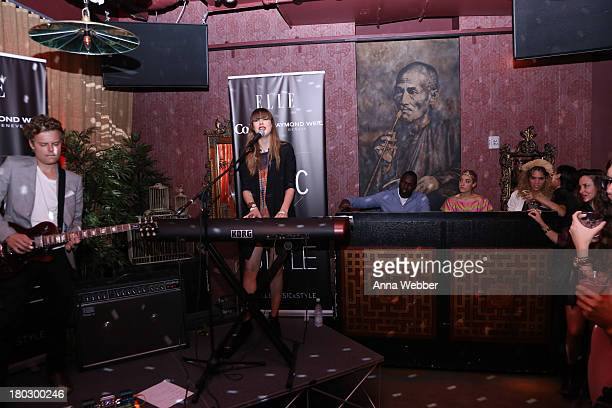 Musician Diane Birch performs during ELLE Presents MUSIC X STYLE Event In Partnership With Raymond Weil And Diet Coke at Mister H on September 10...