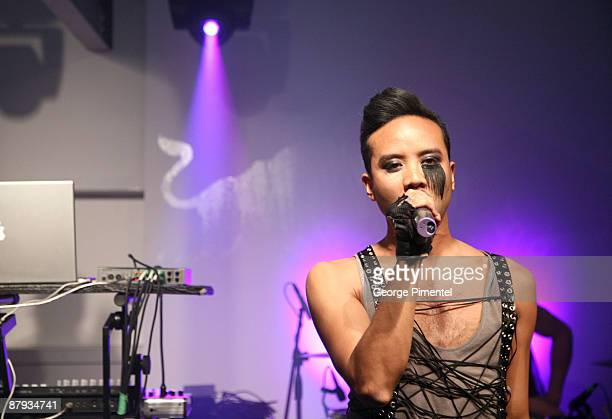 """Musician Diego Superstar of Fritz Helder & the Phantoms performs in Concert for their """"Platinum Edition"""" at the Red Bull Gallery Space on May 22,..."""